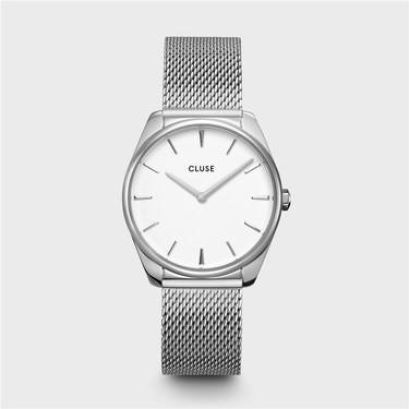 CLUSE Feroce Silver Mesh Watch   - Click to view larger image