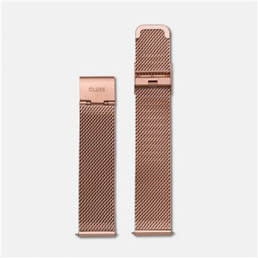 CLUSE Rose Gold Mesh 18mm Strap  - Click to view larger image