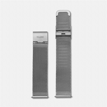 CLUSE Silver Mesh 18mm Strap  - Click to view larger image
