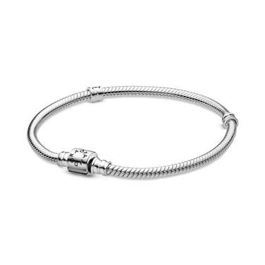Pandora Moments Barrel Clasp Snake Chain Bracelet  - Click to view larger image
