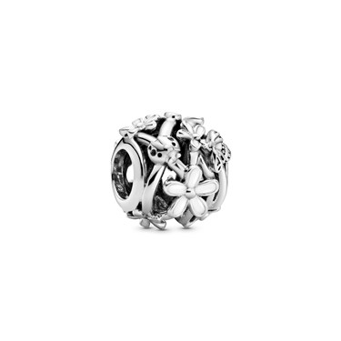 Pandora Openwork White Daisy Flower Charm  - Click to view larger image