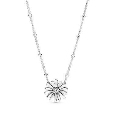 Pandora Daisy Flower Necklace  - Click to view larger image