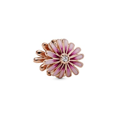 Pandora Pink Daisy Flower Charm  - Click to view larger image