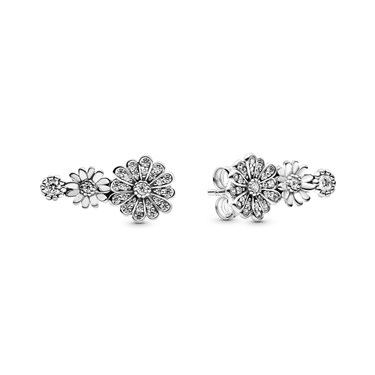 Pandora Sparkling Daisy Flower Trio Earrings  - Click to view larger image
