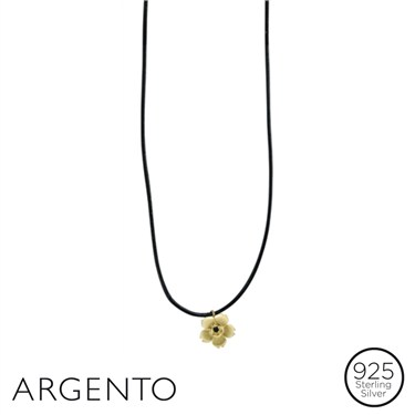 Argento Necklace with Gold Flower