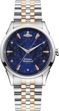 Vivienne Westwood Wallace Blue Mixed Metal Bracelet Watch  - Click to view larger image