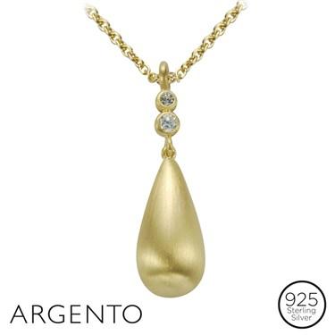 Argento Gold Drop Necklace