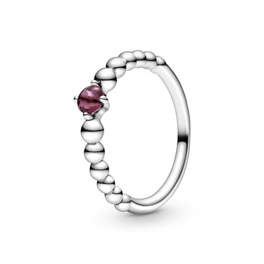 Pandora July Birthstone Beaded Ring  - Click to view larger image