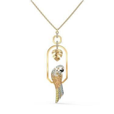 Swarovski Tropical Gold Parrot Necklace  - Click to view larger image