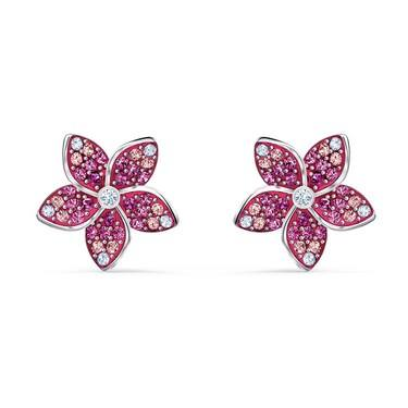 Swarovski Tropical Flower Pink Earrings  - Click to view larger image