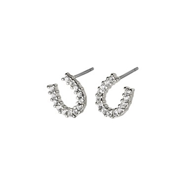 Pilgrim Silver Leanna Horseshoe Earrings  - Click to view larger image