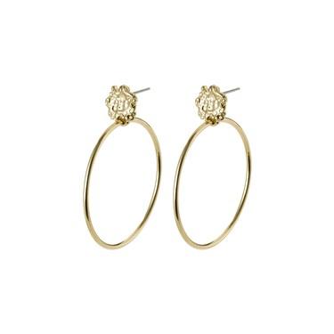 Pilgrim Gold LA Stud Hoop Earrings  - Click to view larger image
