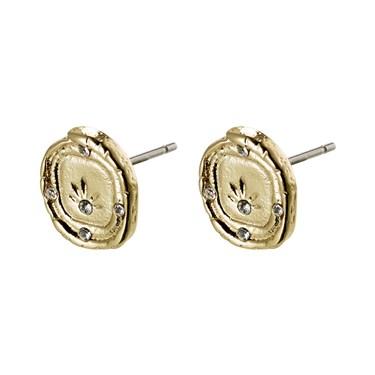 Pilgrim Gold LA Stud Earrings  - Click to view larger image