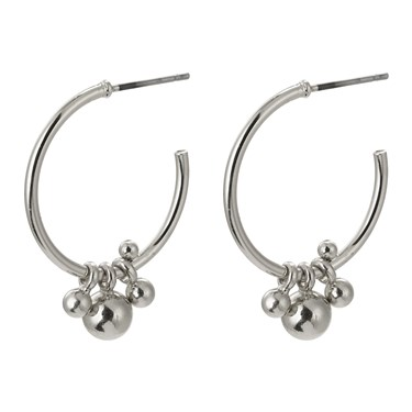 Pilgrim Silver Earth Hoop Earrings 1