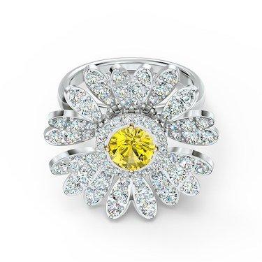 Swarovski Eternal Flower Hinged Ring Size 52  - Click to view larger image