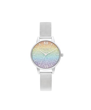 Olivia Burton Rainbow Silver Wishing Wave Watch   - Click to view larger image