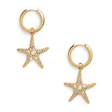 Olivia Burton Gold Starfish Huggie Earrings  - Click to view larger image
