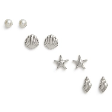 Olivia Burton Under The Sea Silver Earring Pack   - Click to view larger image