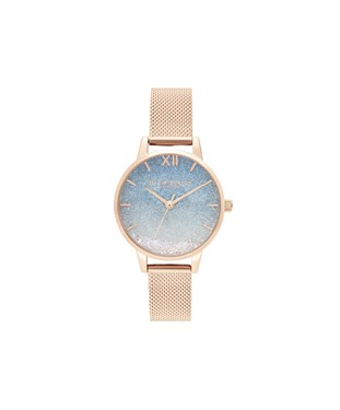 Olivia Burton Rose Gold Wishing Wave Watch   - Click to view larger image