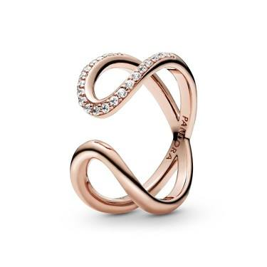 Pandora Wrapped Open Infinity Ring  - Click to view larger image