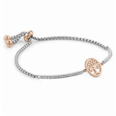 Nomination Silver + Rose Gold Milleluci Tree Of Life Bracelet   - Click to view larger image
