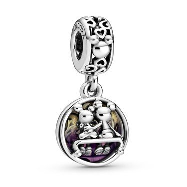 Pandora Disney Mickey Mouse & Minnie Mouse Drop Charm  - Click to view larger image