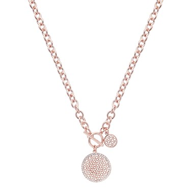 August Woods Rose Gold Chunky T-Bar Crystal Necklace 1