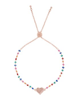 Ted Baker Rose Gold Rainbow Heart Bracelet  - Click to view larger image