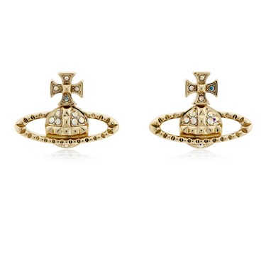 Vivienne Westwood Gold Mayfair Bas Relief Earrings  - Click to view larger image
