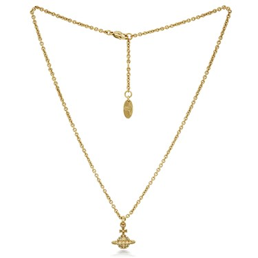 Vivienne Westwood Gold Mayfair Small Orb Necklace  - Click to view larger image