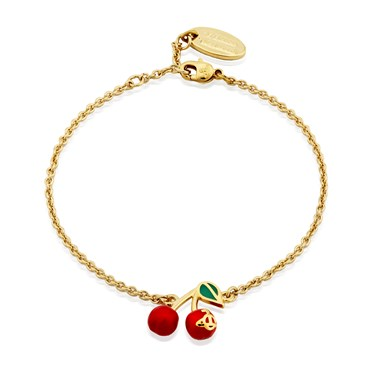 Vivienne Westwood Gold Misty Cherry Bracelet  - Click to view larger image