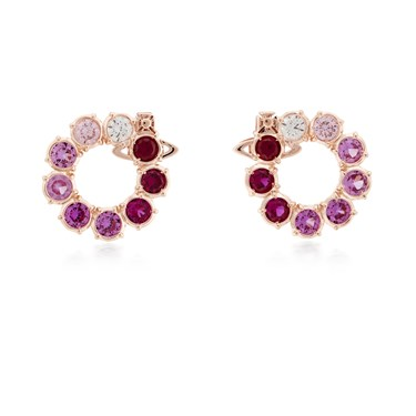 Vivienne Westwood Pink Marceline Circle Earrings  - Click to view larger image