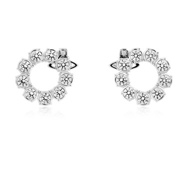 Vivienne Westwood Silver Marceline Circle Earrings  - Click to view larger image