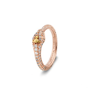 Vivienne Westwood Rose Gold Avalon Snake Ring   - Click to view larger image