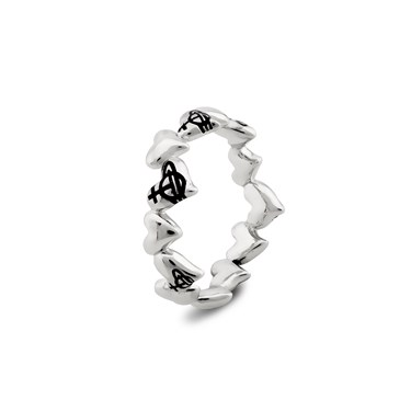 Vivienne Westwood Silver Rosalinda Hearts Ring   - Click to view larger image