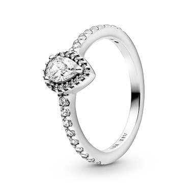 Pandora Classic Teardrop Halo Ring  - Click to view larger image