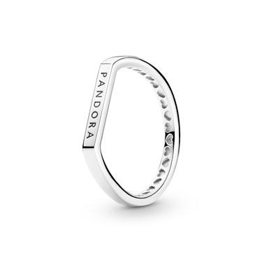 Pandora Pandora Silver Signature Flat Ring  - Click to view larger image
