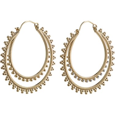 Pilgrim Gold Joy Layered Hoop Earrings  - Click to view larger image