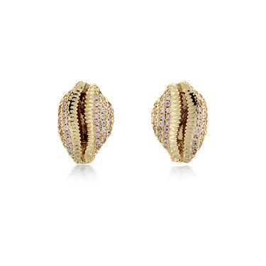Vivienne Westwood Gold Jill Shell Earrings  - Click to view larger image