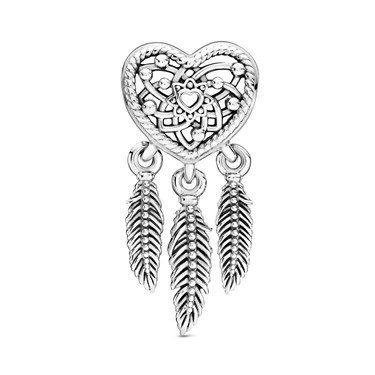 Pandora Openwork Heart  Dreamcatcher Charm  - Click to view larger image