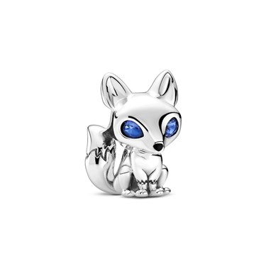 Pandora Blue-Eyed Fox Charm  - Click to view larger image