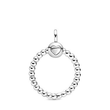 Pandora Small Silver Beaded O Pendant  - Click to view larger image