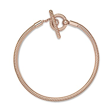 Pandora Rose Moments T-Bar Snake Chain Bracelet  - Click to view larger image