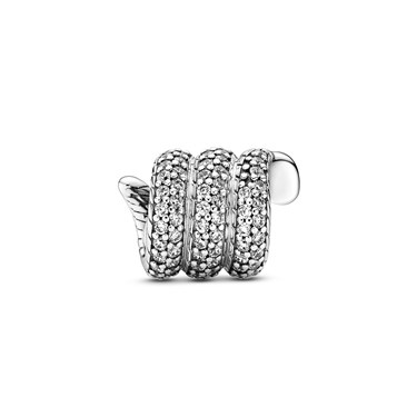 Pandora Sparkling Wrapped Snake Charm  - Click to view larger image