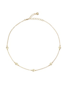 Ted Baker Gold Hexagon Honey Choker Necklace  - Click to view larger image
