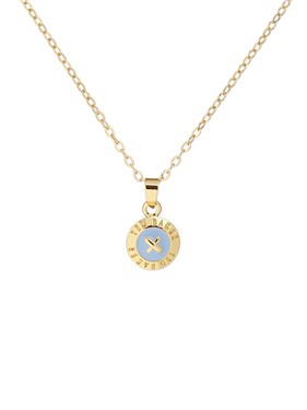 Ted Baker Gold & Blue Mini Button Necklace  - Click to view larger image