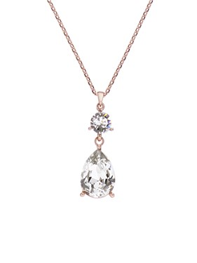 Ted Baker Rose Gold Crystal Candy Necklace  - Click to view larger image