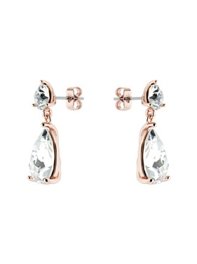 Ted Baker Rose Gold Crystal Candy Earrings  - Click to view larger image
