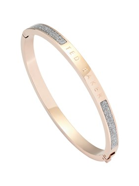 Ted Baker Rose Gold & Glitter Enamel Bangle  - Click to view larger image