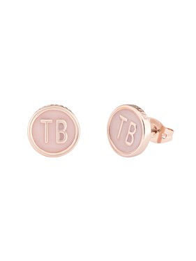 Ted Baker Rose Gold & Pink Dolly Mix Earrings  - Click to view larger image